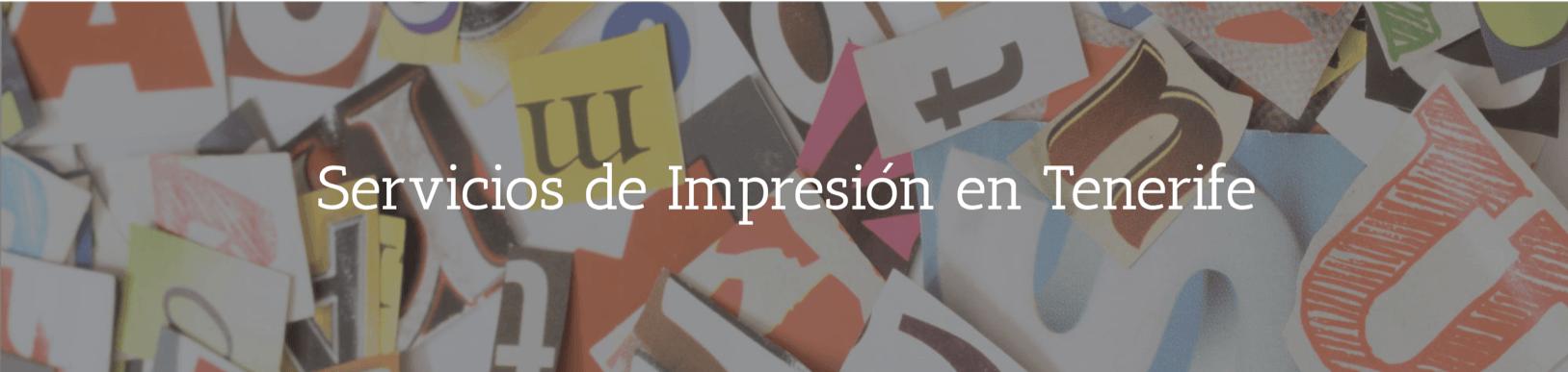 Servicios de Impresión en Tenerife