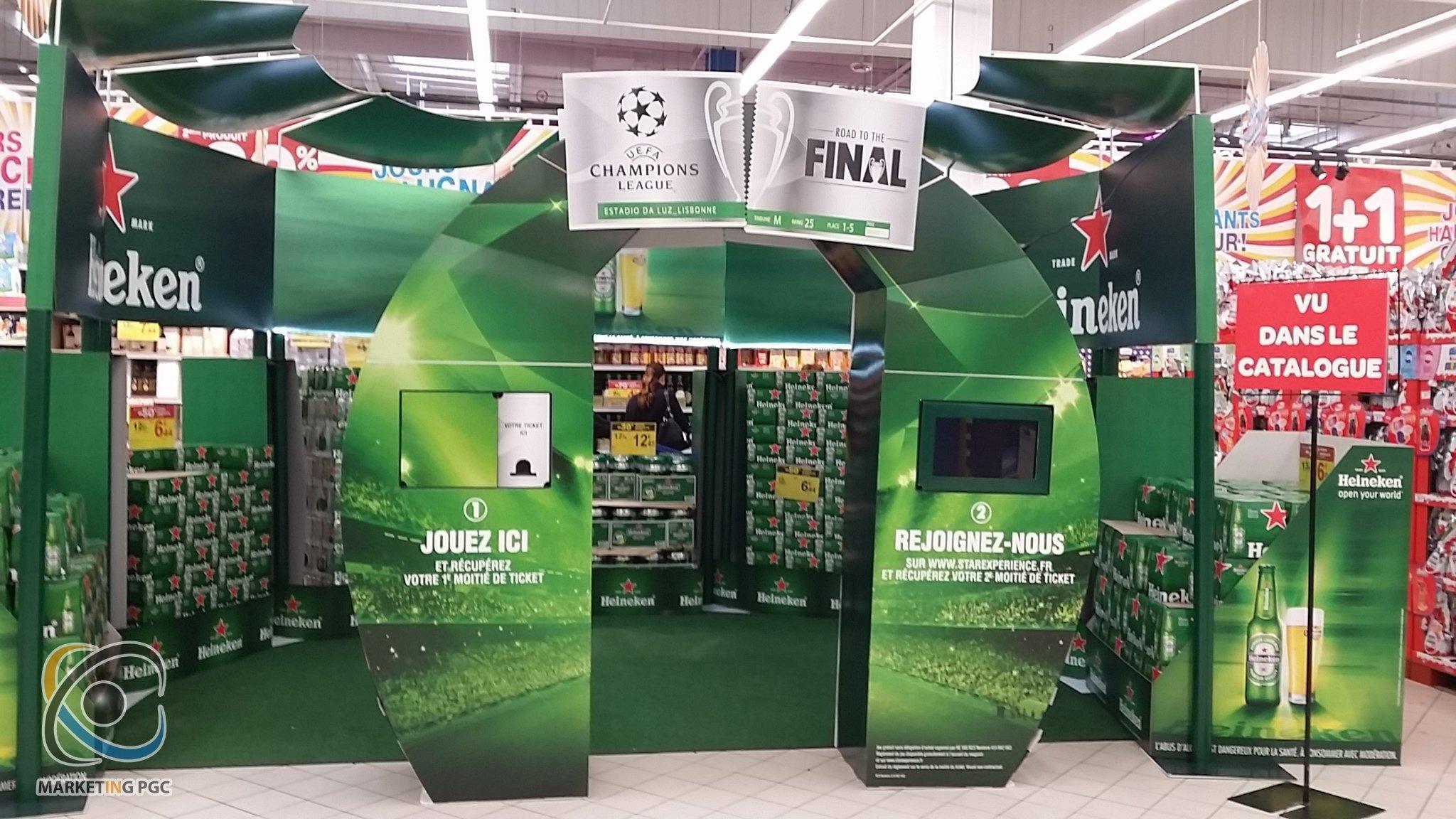 Stand de Heineken Impreso